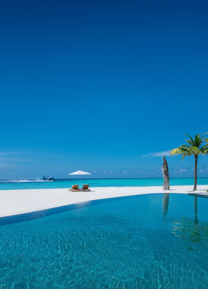The main pool at Four Seasons Private Island at Voavah