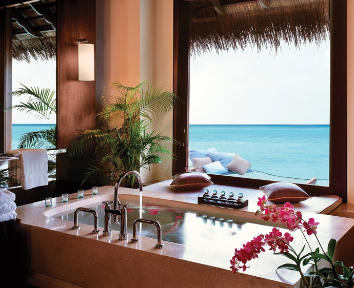 The bathroom at One & Only Reethi Rah