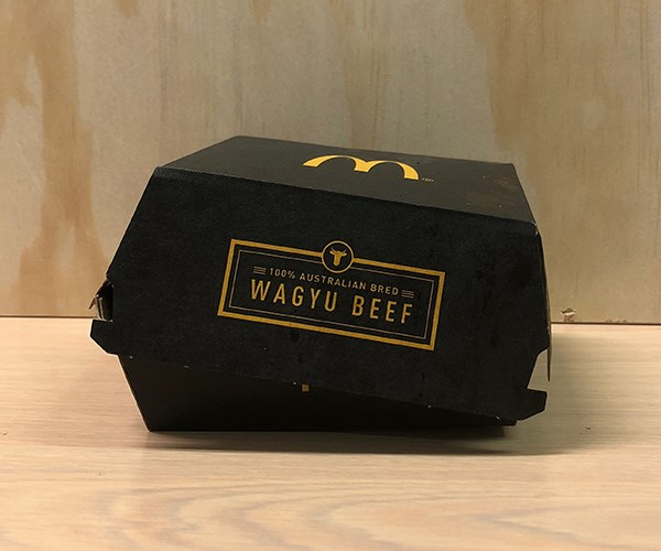 *The Wagyu Beef Burger packaging*