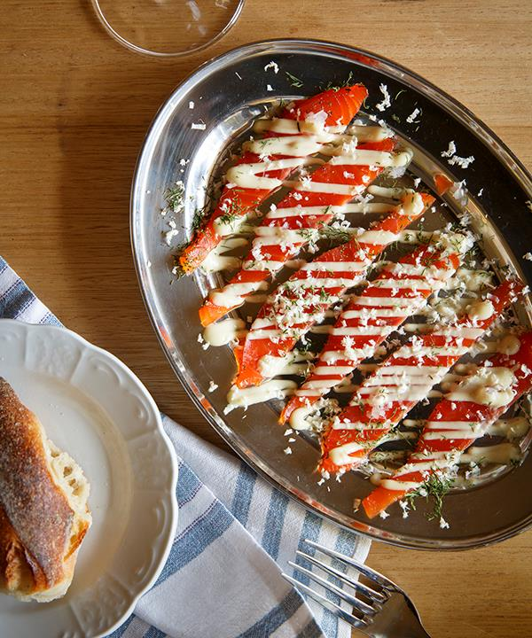 *Smoked ocean trout with Grand Marnier and horseradish*