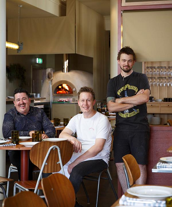 *From left: manager Mark Williamson and chefs Josh Murphy and Rory Cowcher.*
