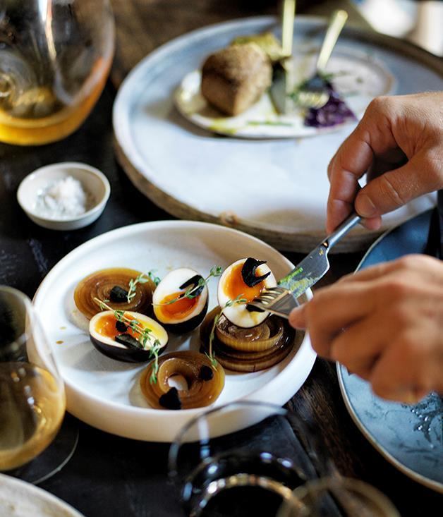 """[**Automata's pickled eggs and onions**](https://www.gourmettraveller.com.au/recipes/chefs-recipes/automatas-pickled-eggs-and-onions-recipe-8430 target=""""_blank"""")"""