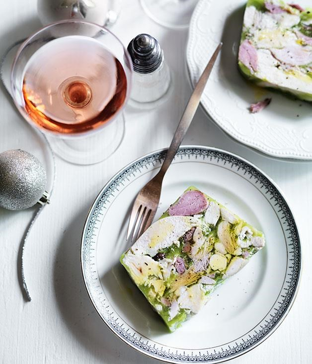 "[**Ham and chicken terrine**](https://www.gourmettraveller.com.au/recipes/browse-all/ham-and-chicken-terrine-12135|target=""_blank"") <br><br> Chicken terrine can be prepared ahead, leaving you time to relax before the Easter celebrations."