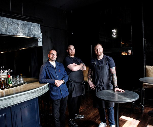 *Restaurant manager David Wilson, head chef Sam Homan and executive chef Justin James*