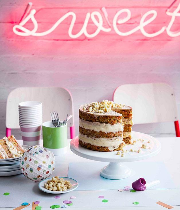 "[**Carrot layer cake**](https://www.gourmettraveller.com.au/recipes/browse-all/carrot-layer-cake-11200|target=""_blank"") <br><br> This towering layer cake takes all the best parts of carrot cake – a moist crumb, plenty of texture – and combines it with the ubiquitous cream cheese frosting that accompanies it, except here it becomes a layer of the cake itself. It's sweet, it's decadent and it's a little bit ridiculous – it's got Christina Tosi written all over it."