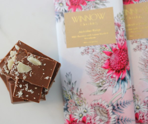 """**Winnow Chocolates Australia Range** Inspired by native Australian flavours, these organic chocolate bars from Winnow come in two flavours: milk chocolate with lemon myrtle and macadamia or dark chocolate with honey-roasted macadamia and roasted wattleseed.  Whatever you choose for mum, buy two because she won't want to share. $10.95, [winnowchocolates.com](http://www.winnowchocolates.com/
