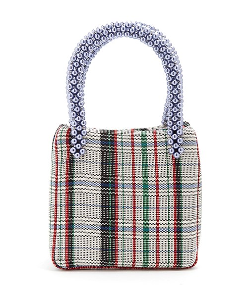 """**Shrimps Una checked wool bag**  This sophisticated plaid bag with metallic blue embellished handles is the perfect size for when you're going to dinner. Be warned: you could be sorely tempted to buy one for yourself, too. $509, [matchesfashion.com](https://www.matchesfashion.com/au/products/Shrimps-Una-checked-wool-bag--1189645