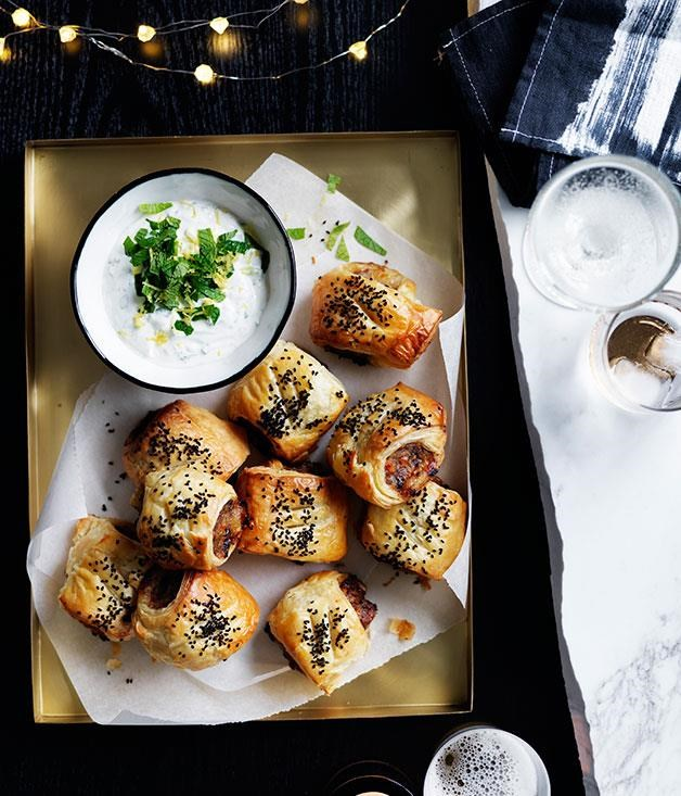 "[Lamb and roast carrot sausage rolls](https://www.gourmettraveller.com.au/recipes/browse-all/lamb-and-roast-carrot-sausage-rolls-14001|target=""_blank"") <br> You'll never eat a store-bought sausage roll once you've had one of these. Try them with a minty yogurt dipping sauce to add a creamy touch."
