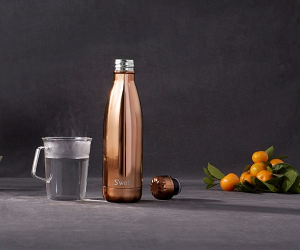 """**S'well Metallic Collection bottle in rose gold**   This sophisticated bottle has more than looks going for it: it also keeps liquid cold for 24 hours and hot for 12. So whether mum wants to stay hydrated at the gym or keep her soup warm in winter, this is a gift she'll put to use daily. $74.90, [top3.com.au](http://top3.com.au/categories/travel-and-work-and-play/water-bottles---unfiltered/swell-insulated-water-bottles/swb17-merg#swell-bottle-rose-gold-500ml