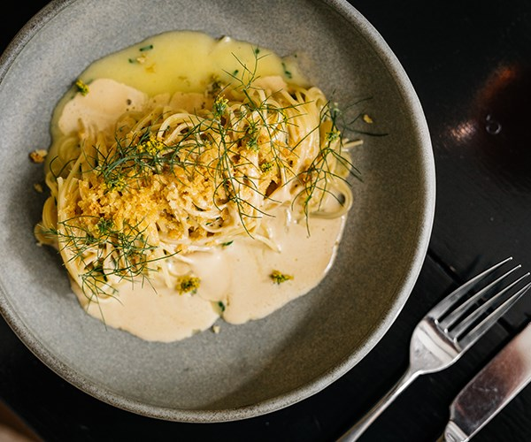 Linguine with sea urchin butter and wild fennel