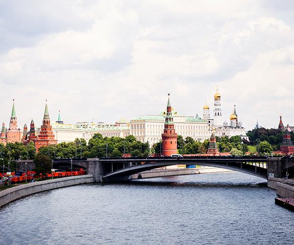 Moskva river and the Kremlin, Moscow