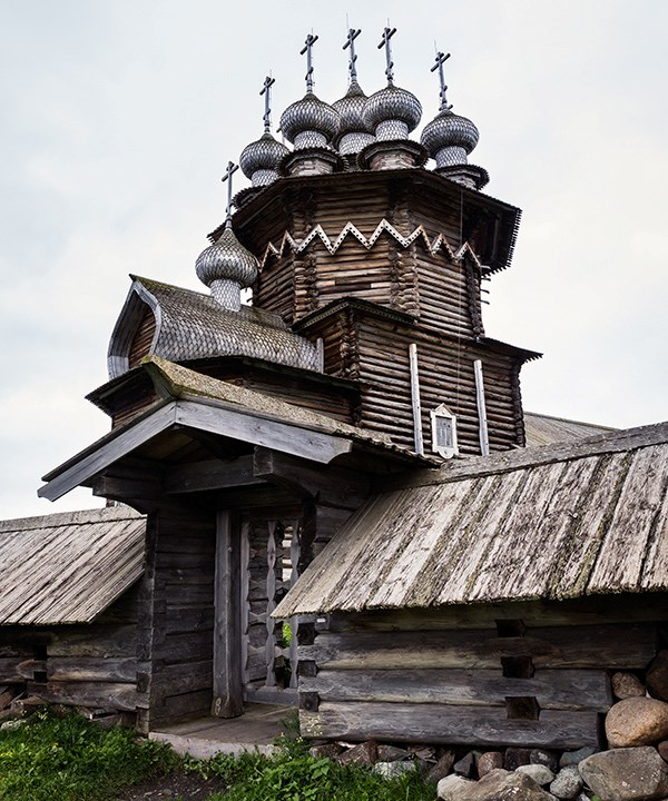 Church spires in the Kizhl Pogost, Kizhl