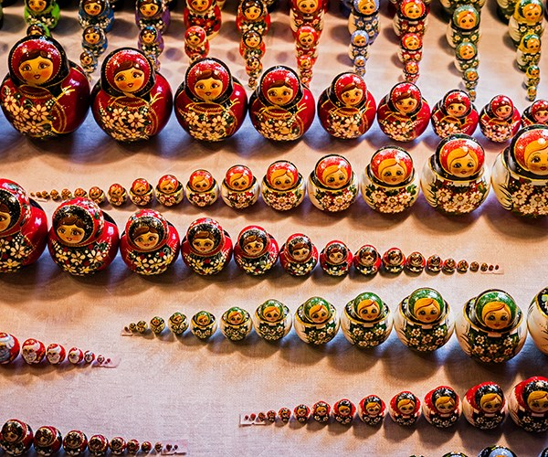 Matryoshka dolls in Uglich