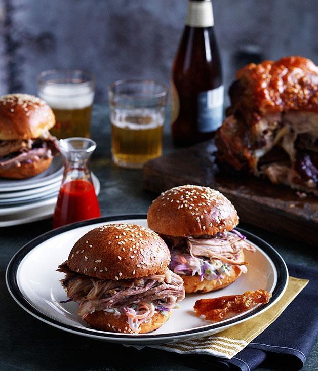"[Slow-roasted pork shoulder rolls](https://www.gourmettraveller.com.au/recipes/chefs-recipes/slow-roasted-pork-shoulder-rolls-7943 target=""_blank"")"
