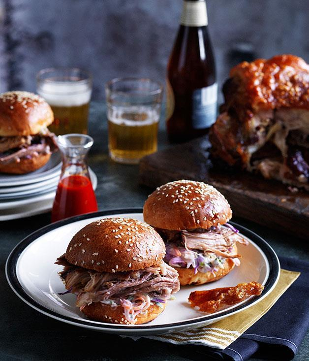 "[**Slow-roasted pork shoulder rolls**](https://www.gourmettraveller.com.au/recipes/chefs-recipes/slow-roasted-pork-shoulder-rolls-7943|target=""_blank"")"