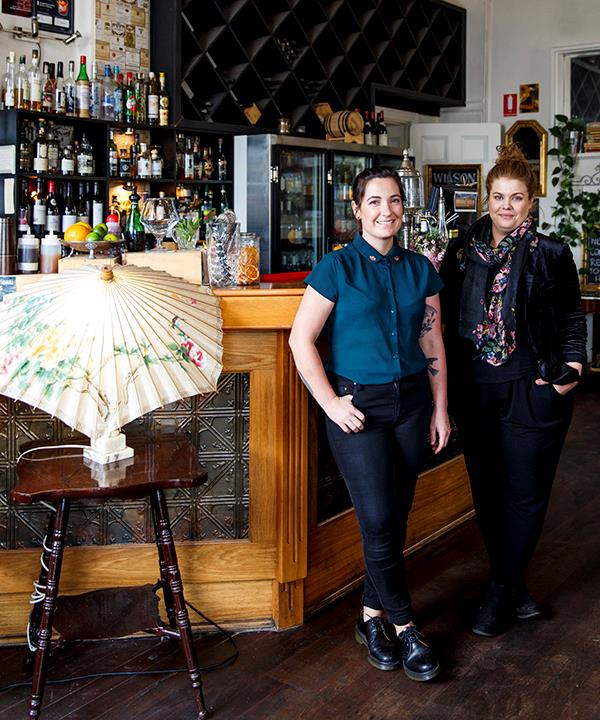 Liberté's bar manager Keryn Giles (left) and chef-owner Amy Hamilton