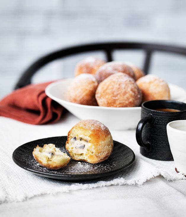 "[**Tiramisù doughnuts**](https://www.gourmettraveller.com.au/recipes/chefs-recipes/tiramisu-doughnuts-9136|target=""_blank"")"