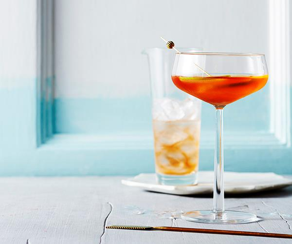 "**[The Marrickville](https://www.gourmettraveller.com.au/recipes/browse-all/the-marrickville-16023|target=""_blank"")** <br> ""We call this the Marrickville, continuing the tradition of naming classic cocktail variations after their suburb or borough – the Red Hook, for instance, and Bronx,"" says Griffin Blumer of Poor Toms Gin. We can get behind them."