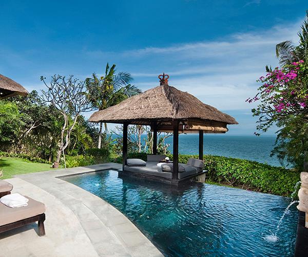 Pool at an Ocean Front Cliff Villa, The Villas at Ayana Resort