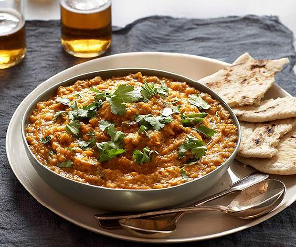 """**[Tarka dal](https://www.gourmettraveller.com.au/recipes/chefs-recipes/tarka-dal-8937