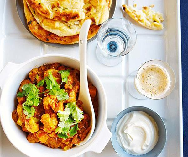 """**[Cauliflower curry with tomato and coriander](https://www.gourmettraveller.com.au/recipes/fast-recipes/cauliflower-curry-with-tomato-and-coriander-13308