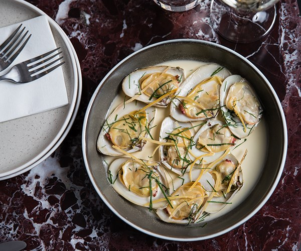Tua tua clams, anchovy butter and lemon