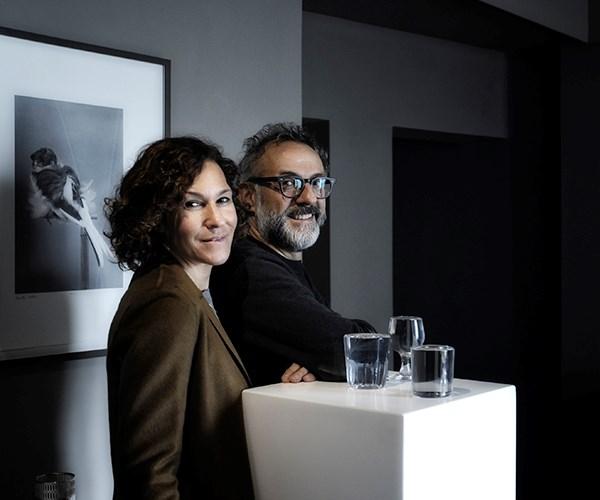 Lara Gilmore and Massimo Bottura at Osteria Francescana. Photography: Paolo Terzi.