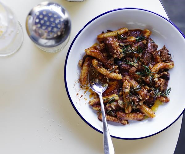 "**[Lamb shoulder ragù with gnocchetti](https://www.gourmettraveller.com.au/recipes/chefs-recipes/lamb-shoulder-ragu-with-gnocchetti-15905|target=""_blank"")**"