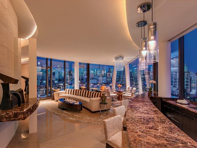 The penthouse suite has views to the Harbour Bridge.