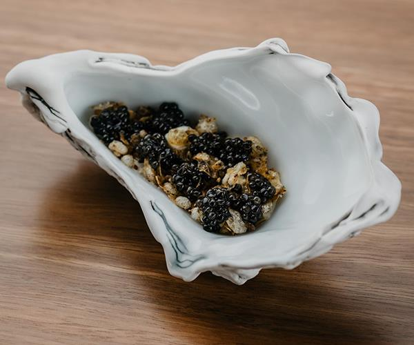Oyster Intervention, a new dish on the menu at Quay, Sydney.