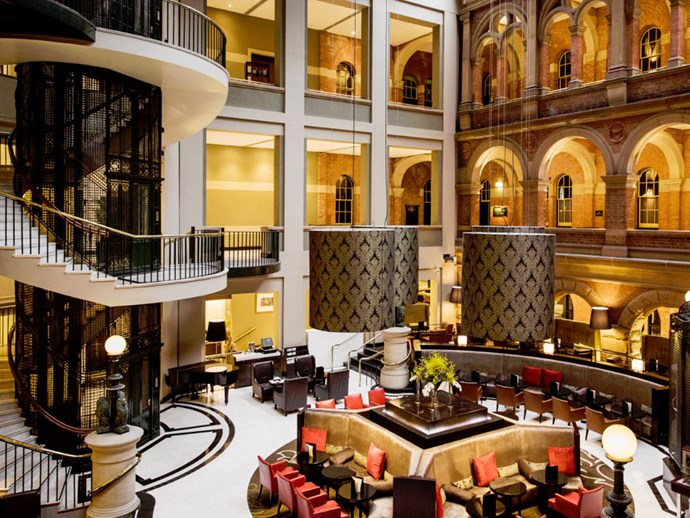 The grand Cortile lobby bar