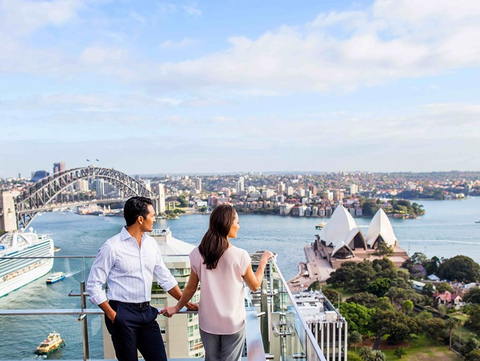 The rooftop views take in the best Sydney has to offer.
