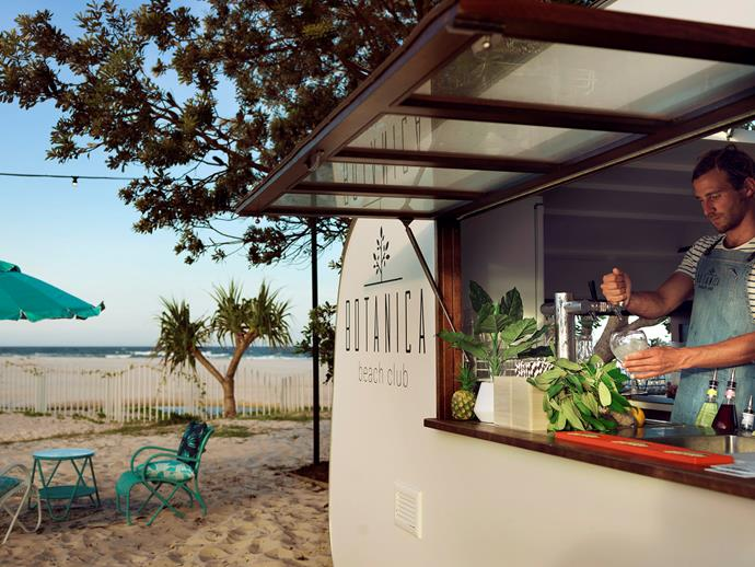 With a cocktail caravan on the beach, you're never too far from your next drink.