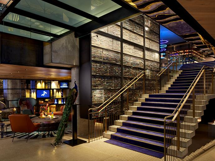 The staircase up to Pascale Bar & Grill.
