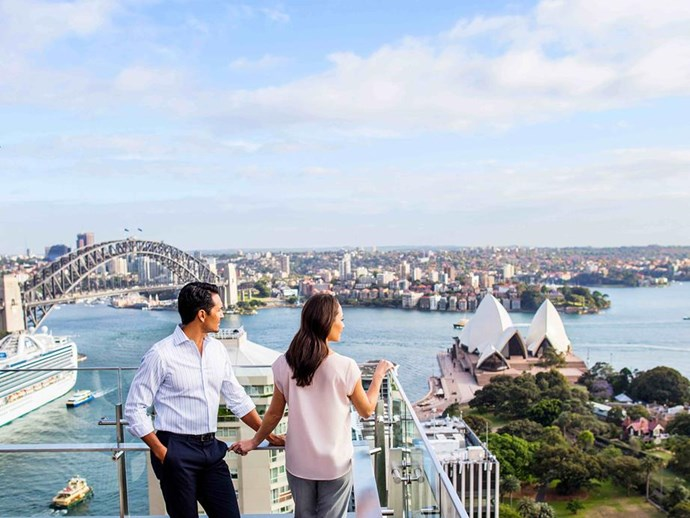 Views from Intercontinental Sydney's rooftop