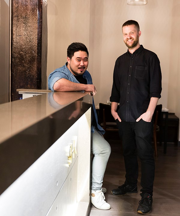 Owner Peter Jo (left) with sommelier Josh Begbie