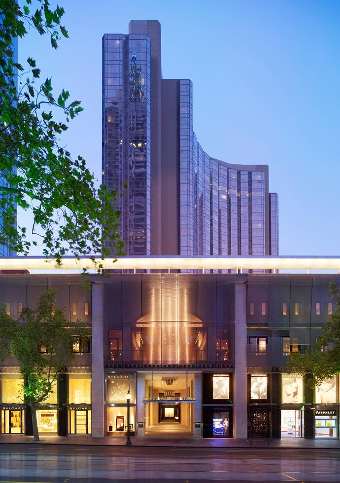 The Park Hyatt is located in the heart of the CBD.