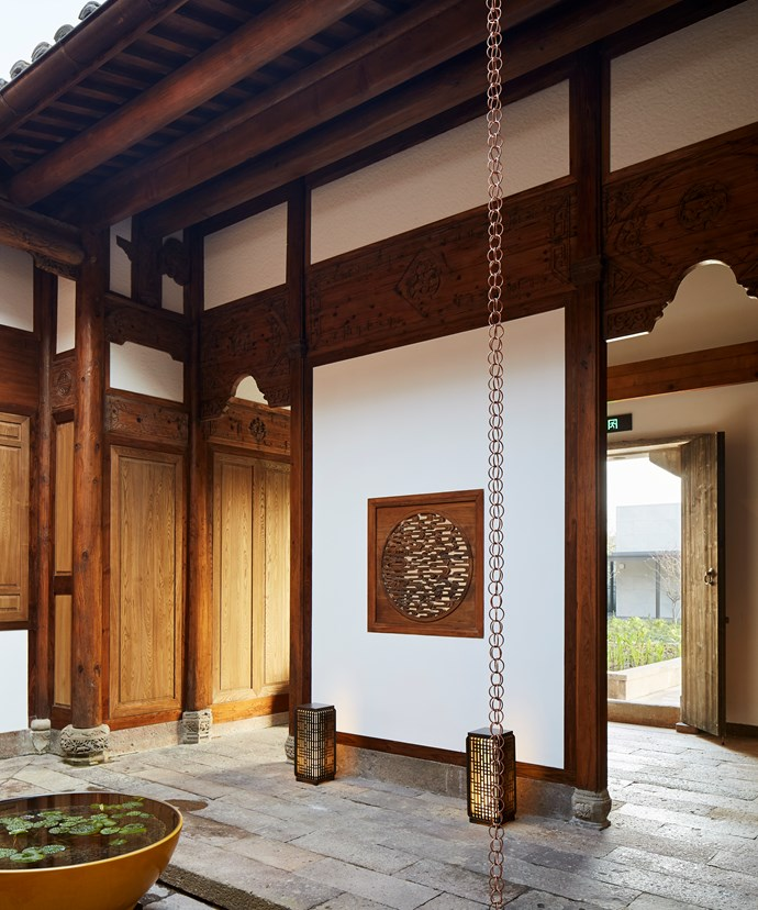 Villa décor at Amanyangun is inspired by the Ming and Qing eras
