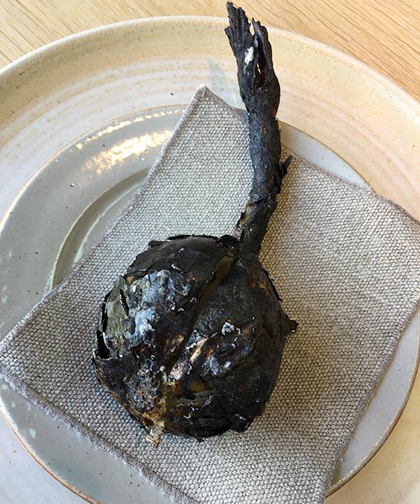Barbecued onion