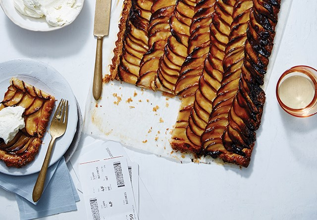 """""""Hands-down one of the great pastries sold in Sydney today, I'd suggest Kitchen By Mike's pear tart as a treat for later,"""" says  Pat Nourse, one of GT's more frequent flyers, """"but who are we kidding? This thing isn't going to make it to the gate, let alone cruising altitude."""""""