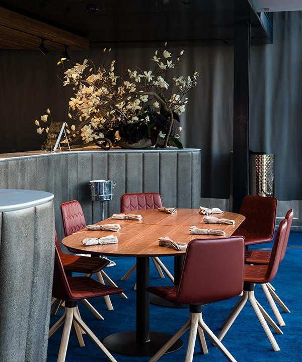 One of the new dining areas, which capitalises on views of Sydney Harbour Bridge