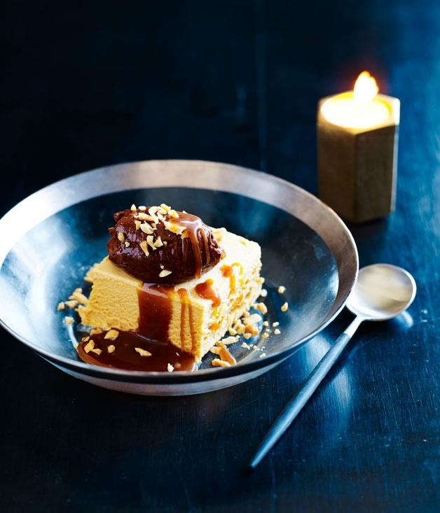 "[Peanut butter parfait, soft chocolate, roasted peanuts and salted caramel](https://www.gourmettraveller.com.au/recipes/chefs-recipes/peanut-butter-parfait-soft-chocolate-roasted-peanuts-and-salted-caramel-8144|target=""_blank"")"