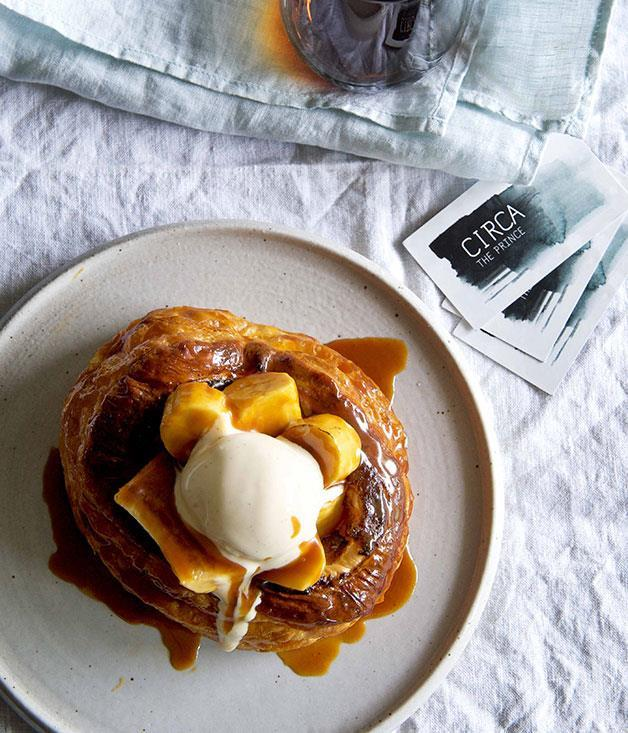 "[Caramelised banana vol-au-vents with salted caramel and vanilla ice-cream](https://www.gourmettraveller.com.au/recipes/chefs-recipes/caramelised-banana-vol-au-vents-with-salted-caramel-and-vanilla-ice-cream-7633|target=""_blank"")"