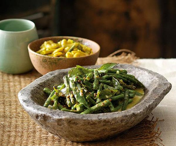 """**[Snake bean curry](https://www.gourmettraveller.com.au/recipes/chefs-recipes/peter-kuruvita-snake-bean-curry-7442