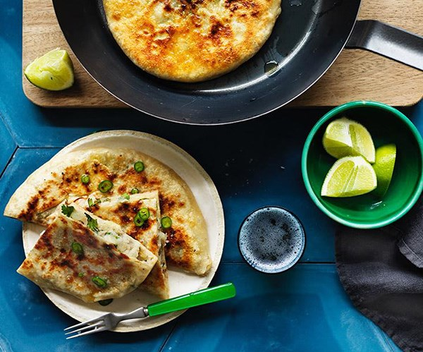 "**[Aloo paratha](https://www.gourmettraveller.com.au/recipes/browse-all/aloo-paratha-12763|target=""_blank"")**  This flaky flatbread stuffed with spiced potatoes is fried in ghee and lingers on your tastebuds for a long time. It's a carb overdose that's exactly what we crave when the weather turns cool."