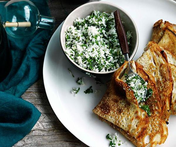 """**[Dosai with coconut, ginger and green chilli chutney](https://www.gourmettraveller.com.au/recipes/browse-all/dosai-with-coconut-ginger-and-green-chilli-chutney-11107