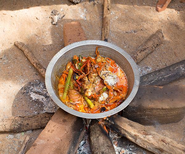 Crab curry at Beach Wadiya
