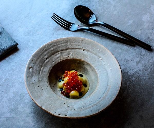 Dutch cream potato, whey and smoked fish roe at Igni