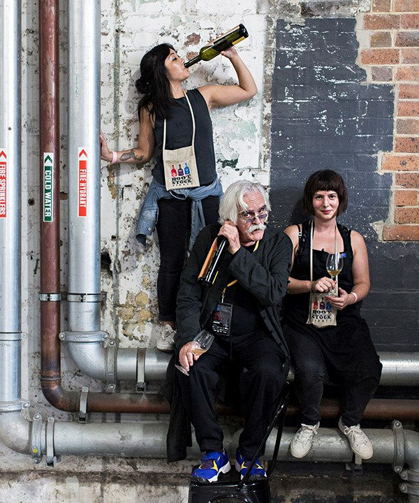 """The crazy legend of Pantelleria - Gabrio Bini - entertaining Analiese Gregory (right) and Jessica """"Fatcat"""" Tan."""