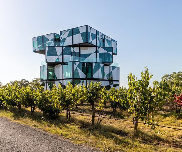 """**MAÎTRE D' OF THE YEAR FINALIST: SARAH FEEHAN** <br><br> Mad geometric building design. Outrageous harlequin colour scheme. Oddball artefacts. Weaving all of the [d'Arenberg Cube](https://www.gourmettraveller.com.au/travel/travel-news/behind-the-design-of-the-darenberg-cube-16057